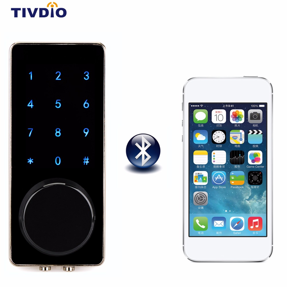 TIVDIO Smart Lock Bluetooth Enabled Keyless Door Lock Home Entry with Your Smartphone for Hotel Apartment F1401A digital electric best rfid hotel electronic door lock for flat apartment