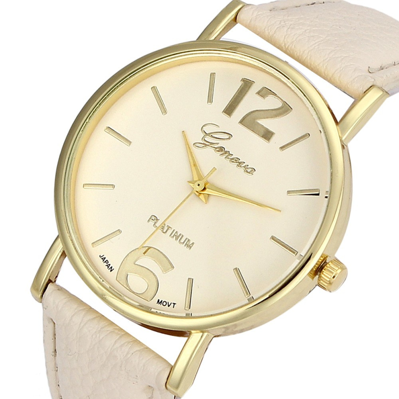 Excellent Quality 2016 New Geneva Watches Womens Fashion Relogios Femininos Casual Dress Watches Rhinestone Analog Quartz Watch