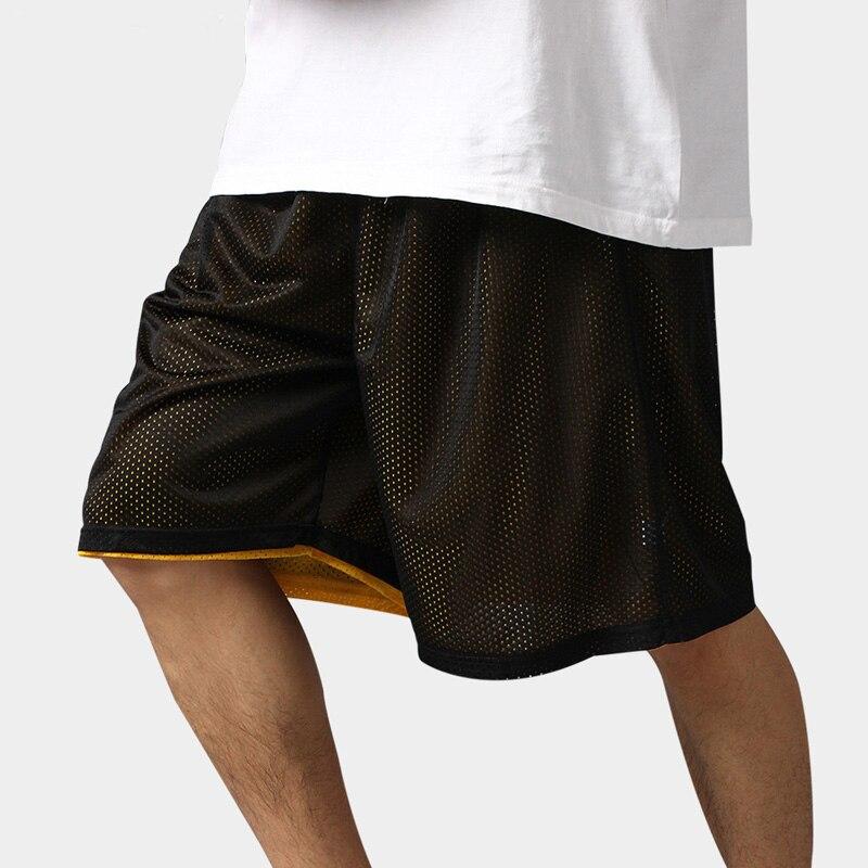 Hot High Quality Reversible Casual Shorts Men Summer Double-Way Breathable Basketballs Shorts