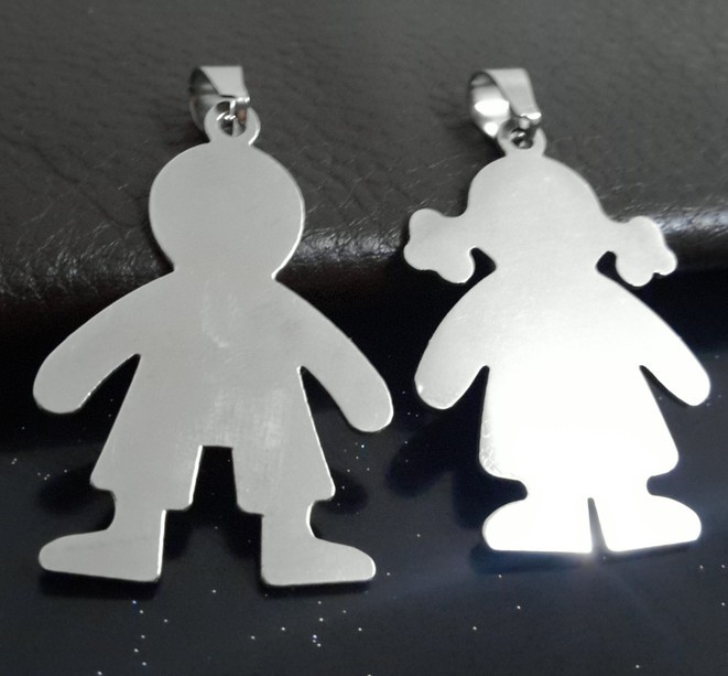 boy twin com dp amazon necklace clayvision jewelry girl little charm baby necklaces pendant