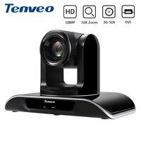 Tenveo 3MP VHD10N 10X Zoom SDI Camera Full 1080P PTZ HDMI Video Conference Camera 3G SDI DVI for Projector Broadcast Multimedia