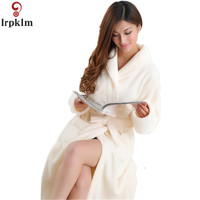 Ladies And Men Long Bathrobe Women Flannel Kimono Bath Robe Bridal Wedding Bridesmaid Robes Dressing Gown Peignoir Badjas SY241