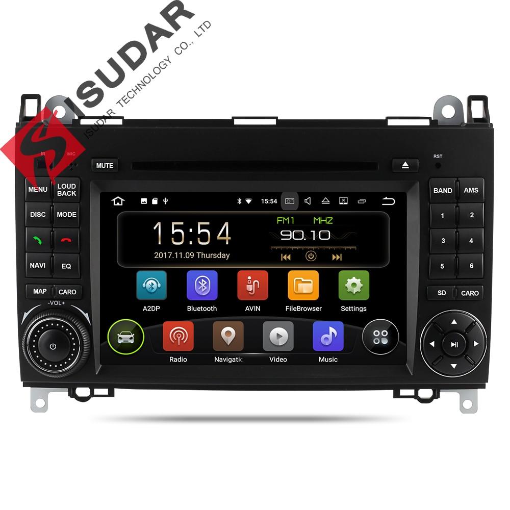 Isudar Car Multimedia Player GPS Android 7.1.1 2 Din For Mercedes/Benz/Sprinter/B200/B-class/W245/B170/W209/W169 Wifi Autoradio carmonitor player autoradio for mercedes benz b200 sprinter w209 w169 b200 a class w169 b class w245 b170 multimedia gps radiofm
