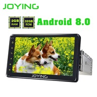JOYING 7 inch 1 Din android 8.0 PX5 Octa Core Radio GPS Auto Stereo Bluetooth tablet carplay support rear view camera Video Out