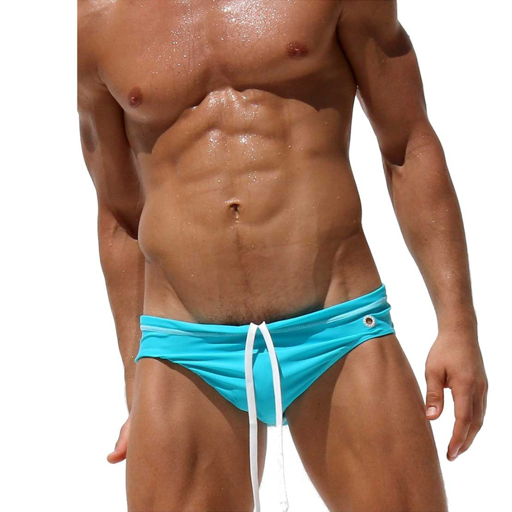 Swimming Briefs Shorts Tight Trunks Men's Boxers Low-Waist Sexy with Summer Sluilt Colorfull