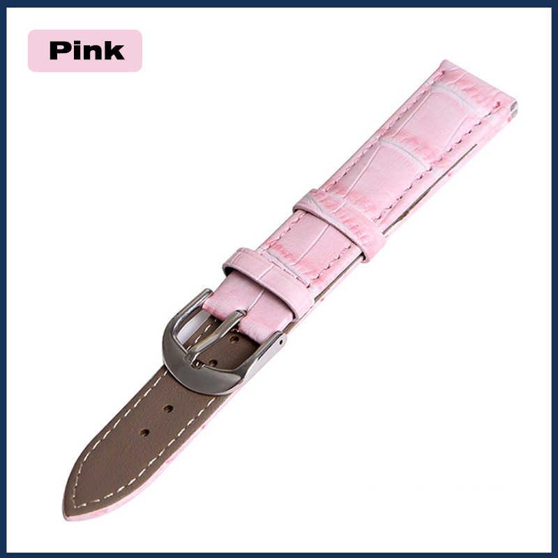 """להקת שעון עור אמיתי רצועות 12 מ""""מ 18 מ""""מ 20 מ""""מ 14 מ""""מ 16 מ""""מ 19 מ""""מ 22 מ""""מ שעון אביזרי גברים באיכות גבוהה חום צבעים Watchbands"""