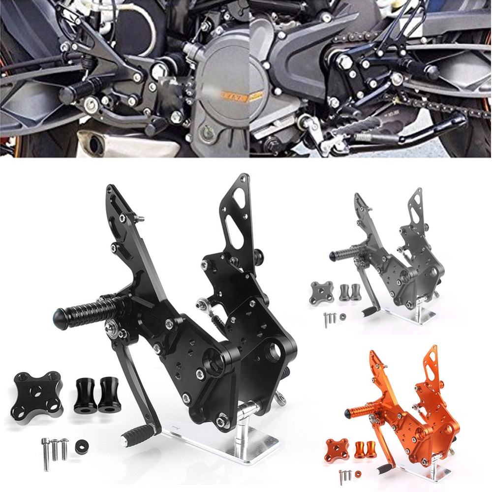 Motorcycle Accesories Rear Passenger Foot Peg Footrest Bracket Set For 2011-2016 KTM Duke 125 200 390 2012 2013 2014 2015 new wave rear brake disc rotor for ktm duke 125 2011 2012 2013 2014 duke200 2012 2014 duke390 13 14