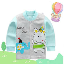 2019 Children's Bottoming Shirt Baby Combed Cotton Boy Girl Cardigan Jacket Infant Long sleeved Kids Spring Autumn Coat-in Jackets & Coats from Mother & Kids on expressjinni