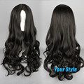 70cm Cheap Natural Hair Wigs Long Wavy Curl Black Hair Wigs for Black Women  African American Celebrity Wigs Lolita Anime
