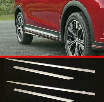 Pour Mitsubishi ECLIPSE CROSS 2018 2019 ABS Chrome côté porte ligne garniture corps garniture Accent moulage couverture lunette style protecteur