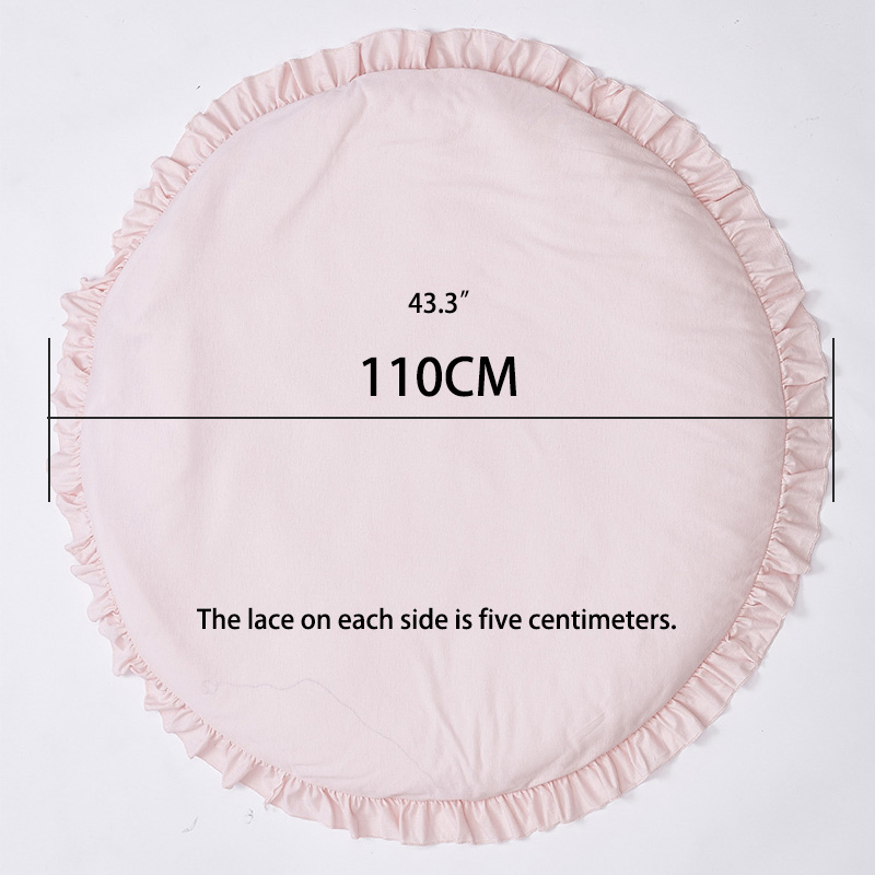 INS Baby Bedding Rabbit Blanket Cotton Game Pad Children Room Decor 100CM Cartoon Children Kids Cotton Crawling Mat Floor Rug