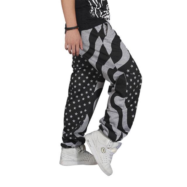 Hot Venda Nova Maré masculino hip hop calças soltas moda Hop tamanho grande calças dos homens Frete Grátis