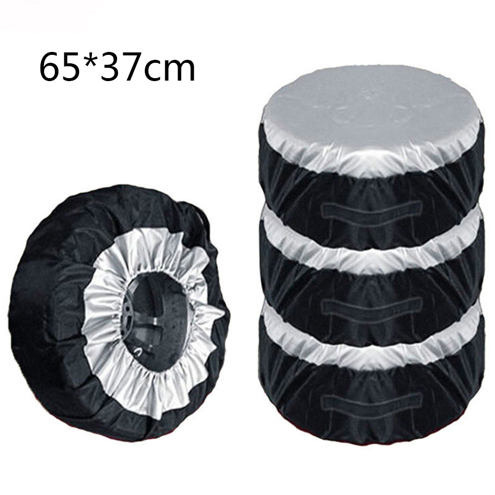 1PCS Tire Cover Case Car Spare Tire Cover Storage Bags Carry Tote Polyester Tire For Cars Wheel Protection Covers