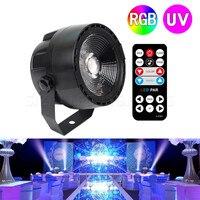 10PCS 12W RGB UV Purple LED Stage Light DMX Stage Lighting Effect Par Lamp For Party Disco Club DJ Holiday Decoration Lights