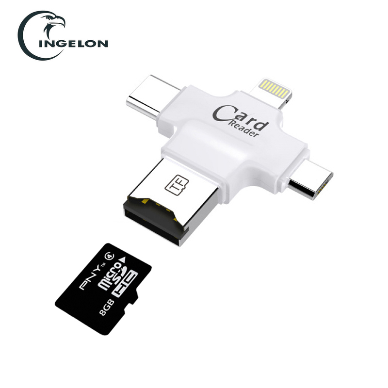New 3 in 1 Micro USB//Type C//USB2.0 OTG TF Card Reader for iPhone IOS Android