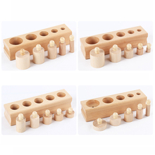 Logwood Russian warehouse Wooden toys Montessori Educational Cylinder Socket Blocks Toy Baby Development Practice and Senses