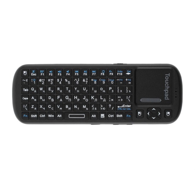 New Mini 2.4G Wireless Keyboard Air Mouse Touchpad LED Russian Version For PC TV  Wholesale