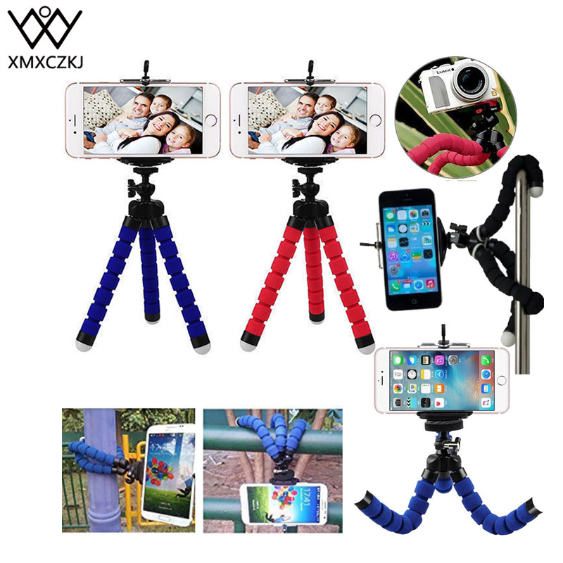 XMXCZKJ Mobile Camera Holder Clip Smartphone Monopod Tripe Stand Octopus Mini Tripod Mobile Phone Tripod Stand Grip Holder Mount