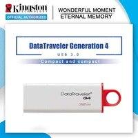 Kingston DataTraveler G4 unidades Flash USB 3,0 8GB 16GB 32GB 64GB 128GB de plástico práctico tapa Pen Drives memoria Flash disco de U