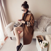 Winter Coat Women Wool Alpaca Coat Long Outwear Warm Feminino Cassic Female's Loose Woolen Jacket Overcoat Woman Autumn Coats