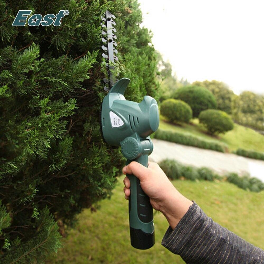 Восточный садовый Электроинструмент 10,8 В 2 в 1 литий-ионная батарея обрезка инструмент беспроводной изгородь триммер трава щетка резак без ...