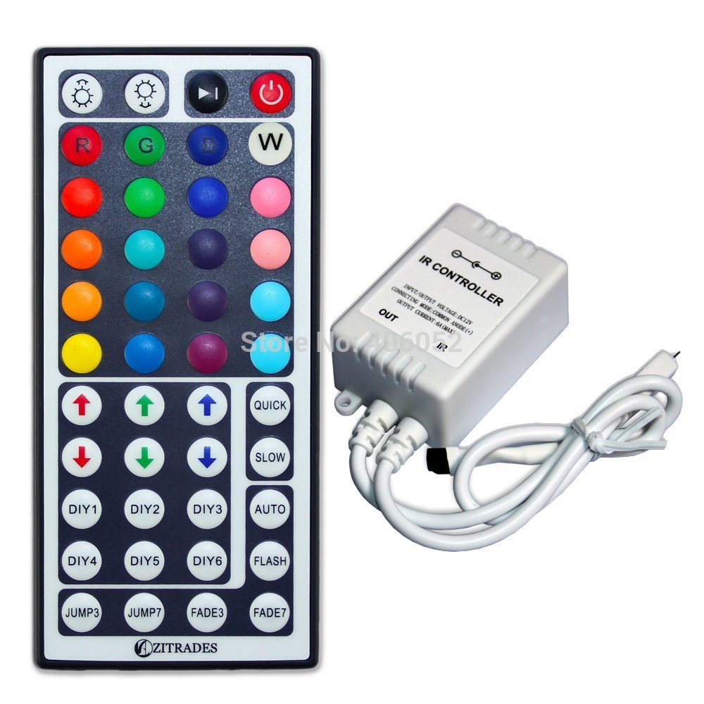 100pcs Lot Rgb Ir 44 Key Led Controller Dc5v 12v 24v For 5050 Switch Or Dc 96w Lights Specifications 3528 Strip Light And Module