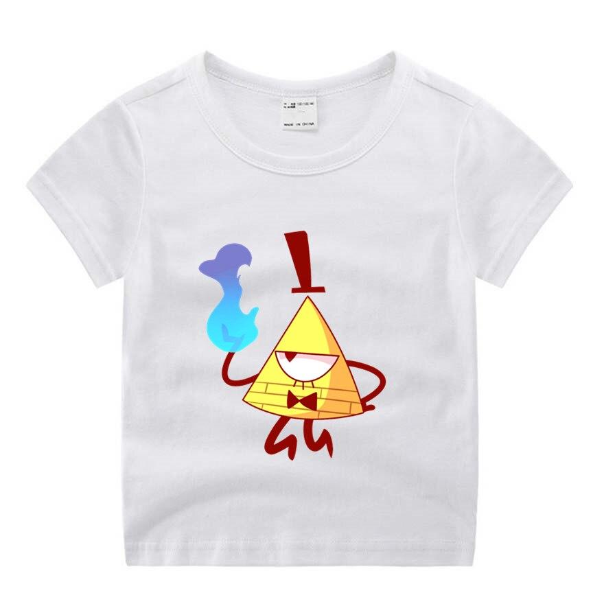 Baby Boy Clothes Children Cartoon Movie Gravity Falls Funny Cartoon Print T-shirt Kids Summer O-Neck Tops Boys & Girls Tshirt Ca
