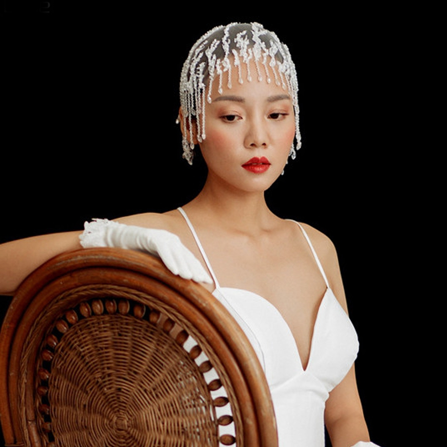 Chapeau Mariage2018 New Lace Crystal Luxury Bride Hat Custom Wedding Accessories Wholesale Gelin Tac Aksesuarlar