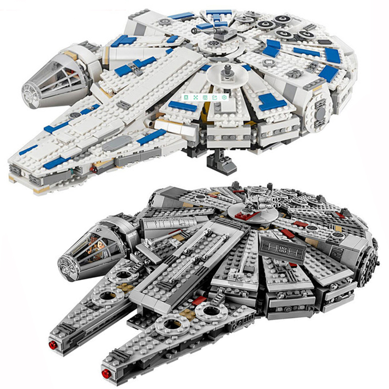 Building Blocks Star Wars 05142 05007 Force Awakens Millennium Compatible 75212 75105 Bricks lepin star wars millennium falcon фотообои star wars star wars millennium falcon 3 68х2 54 м