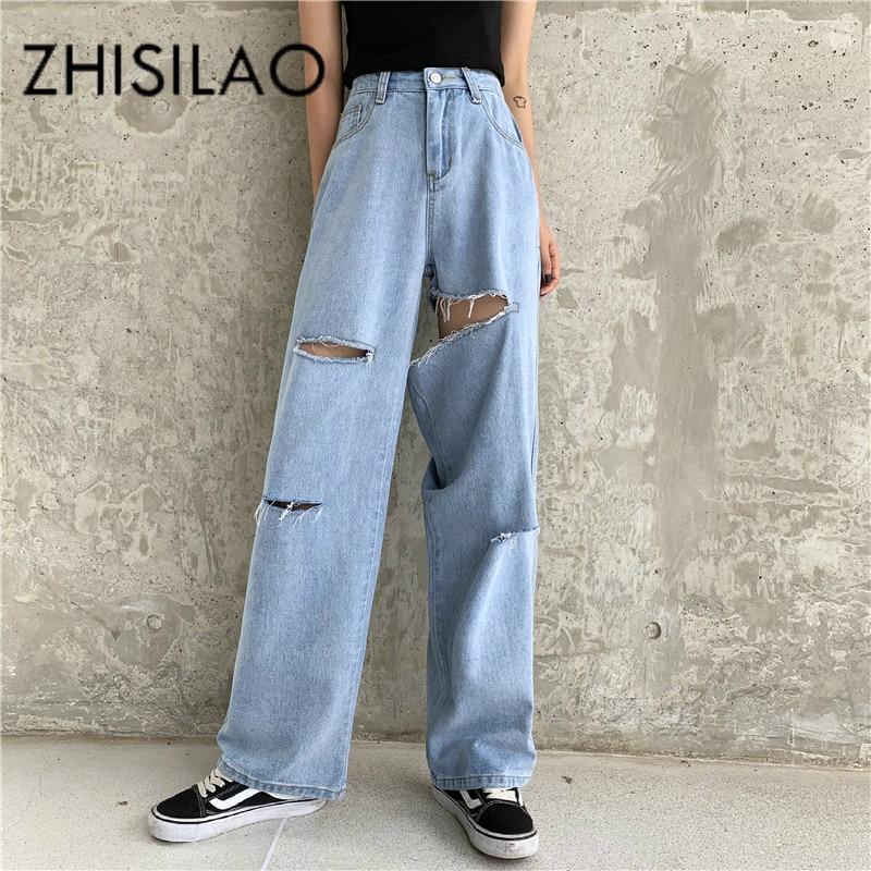Vintage Ripped Jeans For Women Boyfriend Jeans Plus Size High Waist Jeans Femme Denim Pants 2019 Mom Jeans
