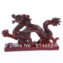 NEW Chinese Feng Shui DRAGON Figurine Statue LUCKY & FORTUNE 5.9x3.4x1.3 Inch