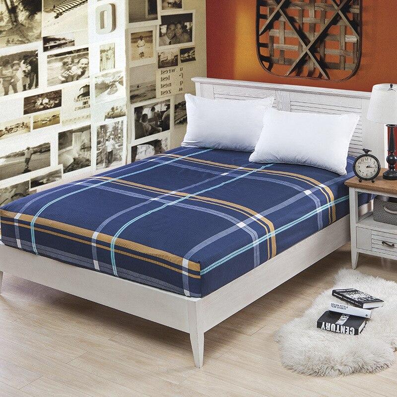 חדש לונדון פסים סגנון נגד החלקה 360 גומייה מיטת התפשטות גיליון סט 100% פוליאסטר מגן מזרן מיטת כיסוי עם