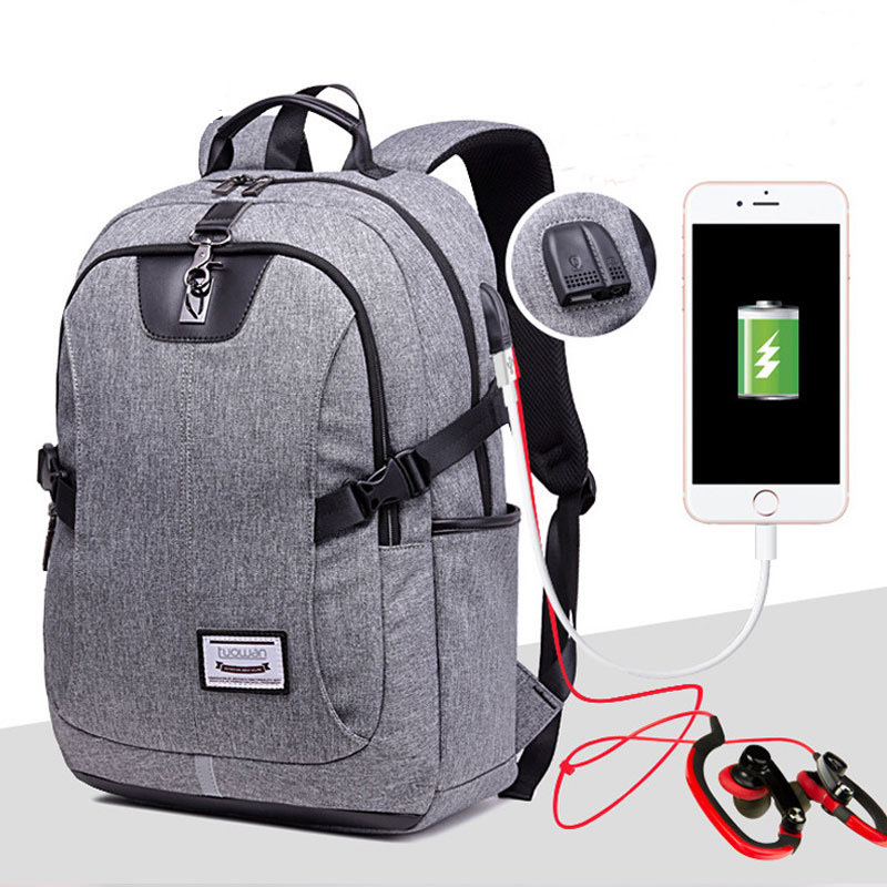 JXSLTC External USB Charge Headset Computer Backpacks Waterproof Bags for Men Women School Bags  34*13*47cm Laptop Backpack Male 13 laptop backpack bag school travel national style waterproof canvas computer backpacks bags unique 13 15 women retro bags