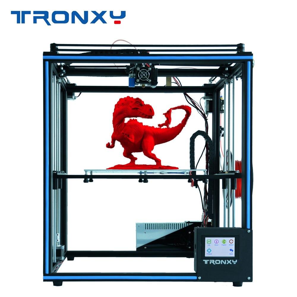 2018 Più Nuovo disegno Tronxy X5SA con touch screen livello di Auto FAI DA TE 3d kit Stampante Completamente in metallo di Grande formato di stampa