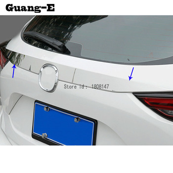 Car Sticker Stainless Steel Rear Door Tailgate Frame Plate Trim Lamp Parts For Mazda CX-5 CX5 2nd Gen 2017 2018 2019 2020
