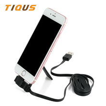 Automotive Cellphone Holder With Lightning Cost Cable for iPhone iPad Adjustable Cell Cellphone Holder Information Transmission Cable for Iphone 7