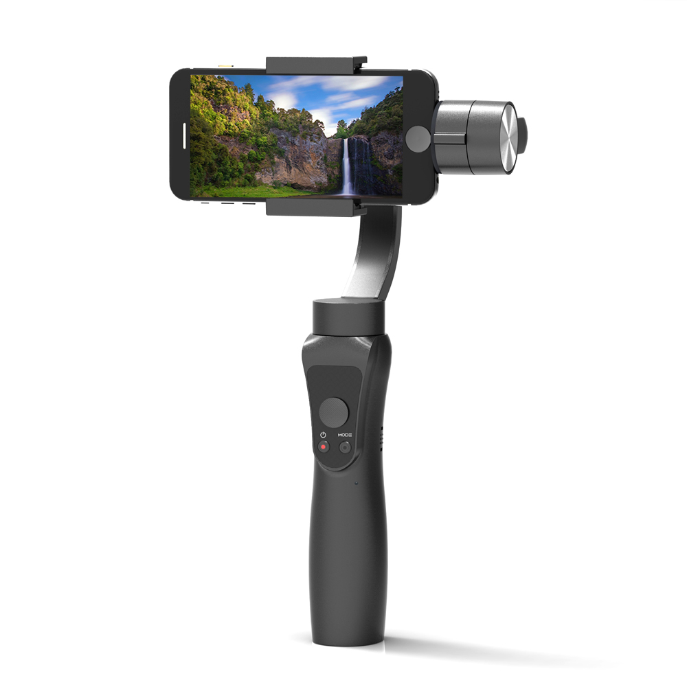 Newest Smooth 3-Axis Handheld Gimbal Portable Stabilizer for iPhone 8 X Xiaomi Samsung S9 S8 S7 Smart phone Gopro Action Camera x cam sight2 2 axis smartphone handheld stabilizer mobile phone brushless gimbal with bluetooth for iphone samsung xiaomi nexus