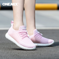 Onemix Women Sport Shoes Summer Lady Running Shoes Light Walking Breathable Jogging Slip on Outdoor Gym Fitness Snearker Shoes