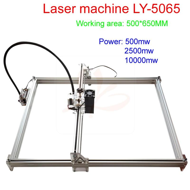 500*650mm working area cnc laser engraving machine Blue Violet laser marking machine with 500mw/2500mw/10w laser head