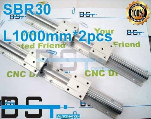 Linear Guide support  2pcs SBR30 -L1000mm+ 4pcs SBR30UU Linear slide for Built CNC Router Machine