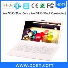 freeship Bben pink black white Laptop computer intel N3150 Core Windows10 4GB RAM 32GB EMMC 2000GB HDD Notebook Computer 16:9 HD