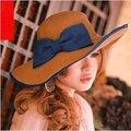 Крышка Женщин Летом 2016 Бабочка Складной Крышки Летние Шляпы для Женщин Соломы Шляпу с Широкими Полями, Стороны Пляжа Шляпа Gorros