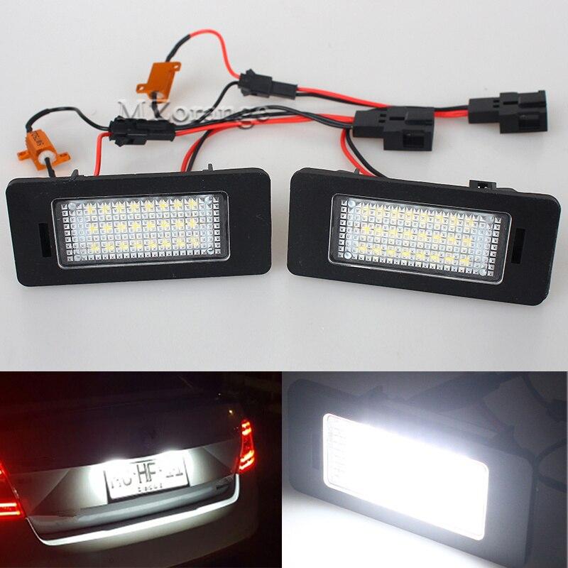 1 Pair 12V Canbus LED Number License Plate Light Fit for SKODA Octavia 3 Superb B6 Combi Rapid Spaceback Yeti Fabia Mk3 No Error