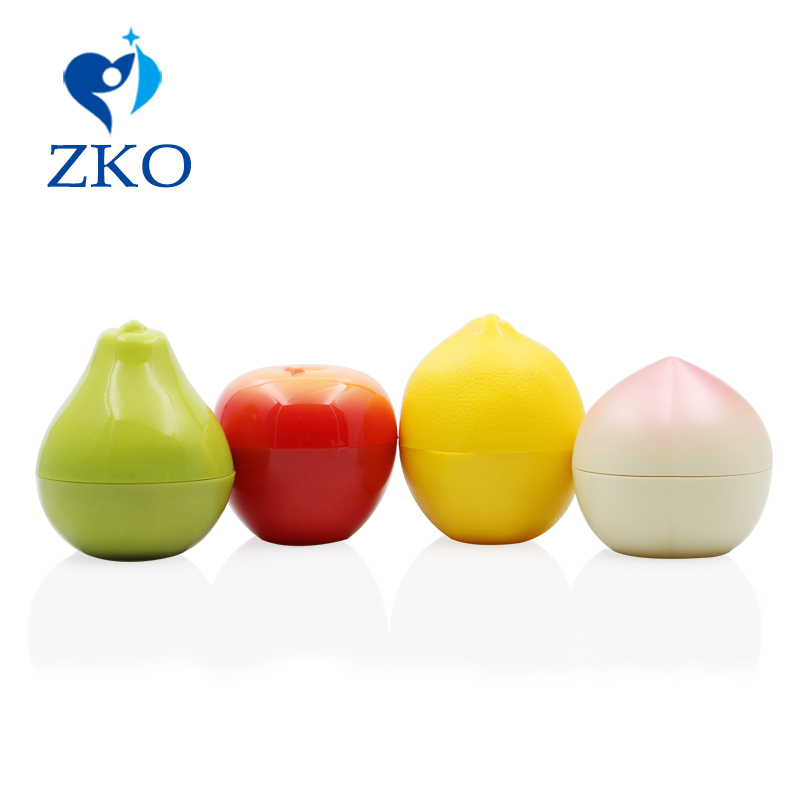 Delicate Fruit Shape Plastic Cosmetics Jar Free Shipping Empty Cosmetic Containers