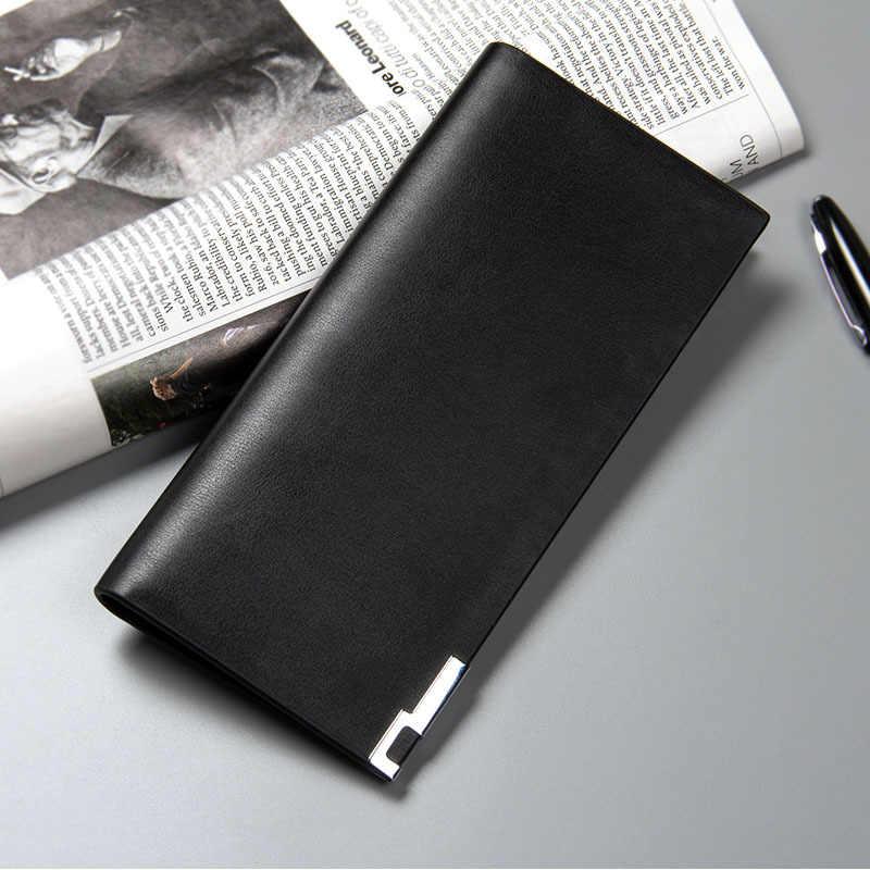 8448cbd6bdbe Top Quality Men Wallet Leather Slim Wallets Men Credit Card Holders Famous  Brand Long Purses Male Wallet Clutch Coin Pocket W047