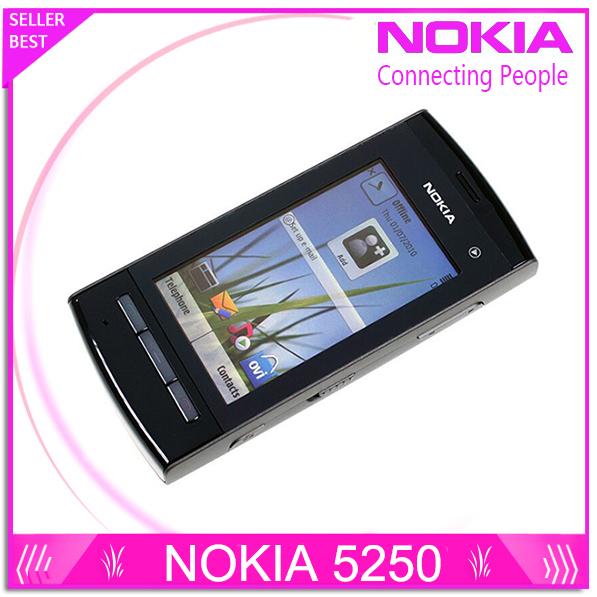 Original abierto de nokia 5250 teléfono móvil 2.8 pulgadas de pantalla táctil gsm 2.0mp pix cámara envío gratis