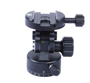 Image 2 - IShoot tout métal 2D 360 panoramique panoramique Panorama pince tête Ballhead pour Arca Fit caméra plaque de dégagement rapide trépied monopode