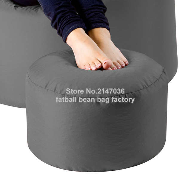 Bean Bag Ottoman Pouf Square Round Beanbag Chair Footrest Stool