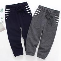 New 2018 Baby Boys Casual Pants Spring Autumn Pure Color Fashion Children Cargo Pants Cotton Thicken