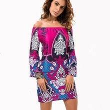 Fashion Bohemian Summer Dress Print Beach Vintage Sexy Female Vestidos De Festa Casual Ladies Clothing Women Robe Party Dresses